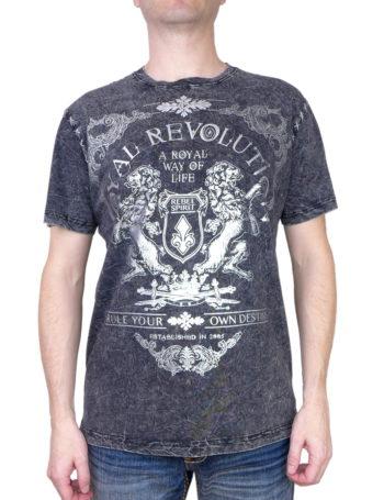 Pánské tričko Rebel Spirit Royal Revolution SSK141708-BLK