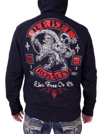 Pánská mikina Rebel Spirit královský lev FTZH141714-BLK