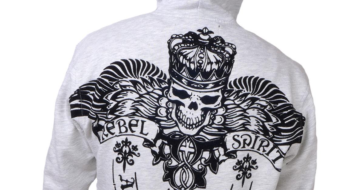 Pánská mikina Rebel Spirit královský démon FTZH141726-GREY