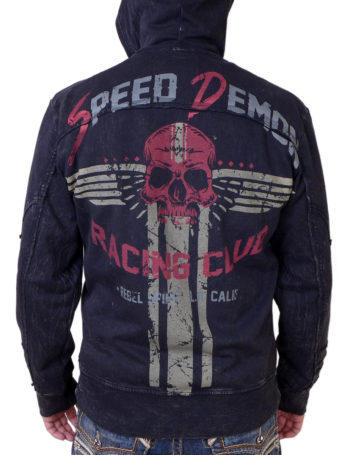 Pánská mikina Rebel Spirit Speed Demon Racing Club RFTZH151647-BLK