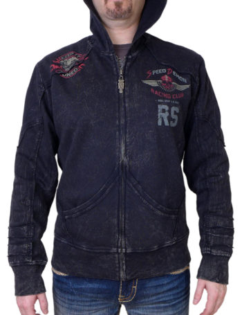Pánská mikina Rebel Spirit Speed Demon Racing Club RFTZH151647-BLK