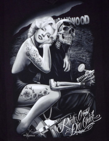 Dámské tričko DG Angels Hollywood Motogirl DGA011-BLK