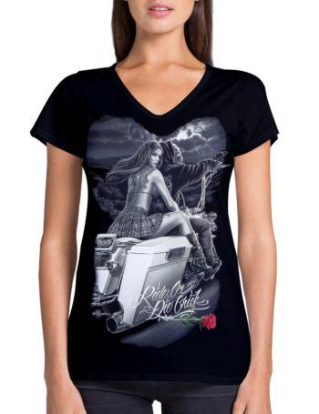 Dámské tričko DG Angels Biker Babe DGA012-BLK
