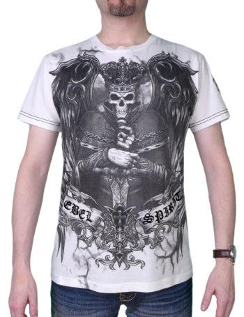 Pánské tričko Rebel Spirit král zla SSK121431-WHT