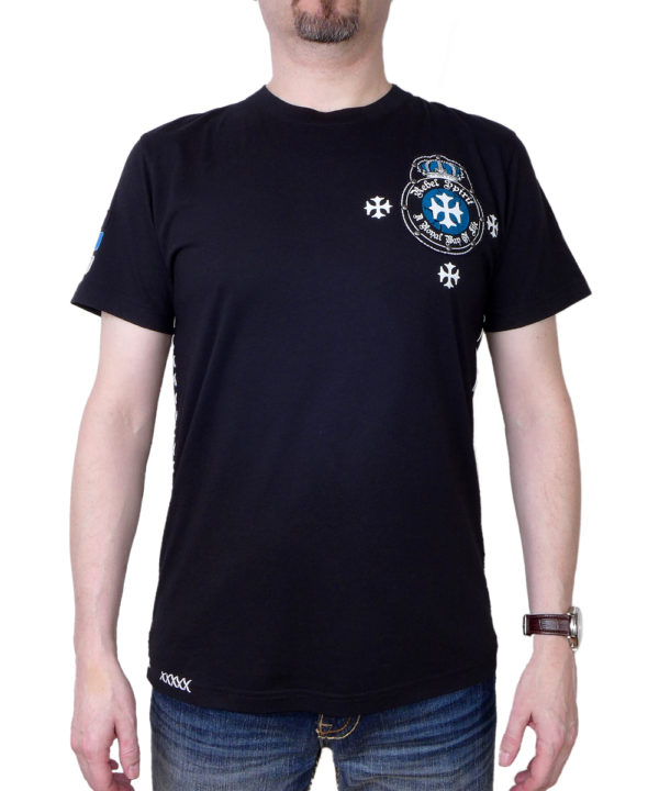 Pánské tričko Rebel Spirit erb bojovníka SSK141673-BLK