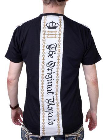 "Pánské tričko Rebel Spirit ""The Original Royals"" (zlatá) SSK151755-BLK"