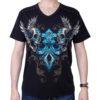 Pánské tričko Rebel Spirit lebky s křídly SSK151768-BLK