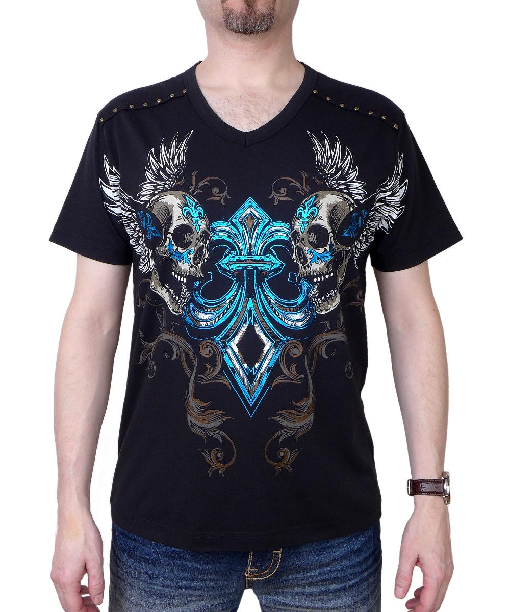 Pánské tričko Rebel Spirit lebky s křídly  a6c265e562