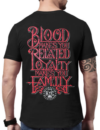 Pánské tričko Red Chapter Family / Loyalty 1087-BLK