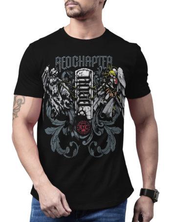 Pánské tričko Red Chapter Angel / Devil COR1181-BLK