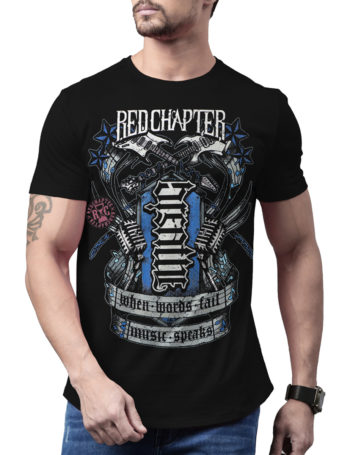 Pánské tričko Red Chapter Breathe / Music COR1182-BLK