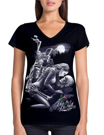 Dámské tričko DG Angels Biker Lovers DGA016-BLK