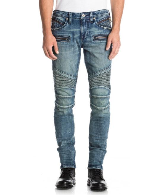 Pánské džíny Rock Revival ELROY S213 Moto Skinny Cut ... b839641880