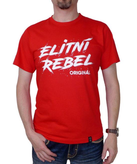 Pánské tričko Elitní Rebel Originál (červené) ... 2e09745889
