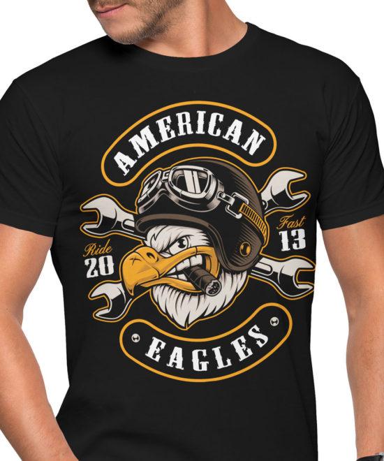 39f106b23b4a Pánské motorkářské tričko American Eagles Pánské motorkářské tričko American  Eagles