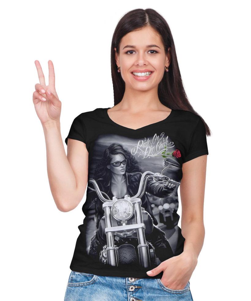 002404a8a1e3 Dámské motorkářské tričko DG Angels Lady Rider