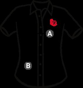 Velikosti pánské košile krátký rukáv Elitní Rebel