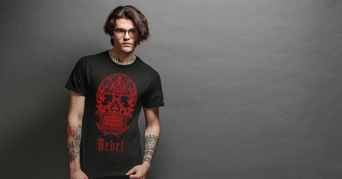 Pánské tričko Rebel Skull | Kolekce ROCK & METAL | ElitniRebel.cz