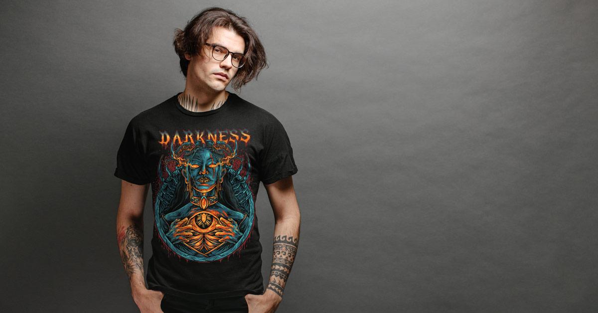Pánské tričko Darkness | Kolekce Metal | ElitniRebel.cz