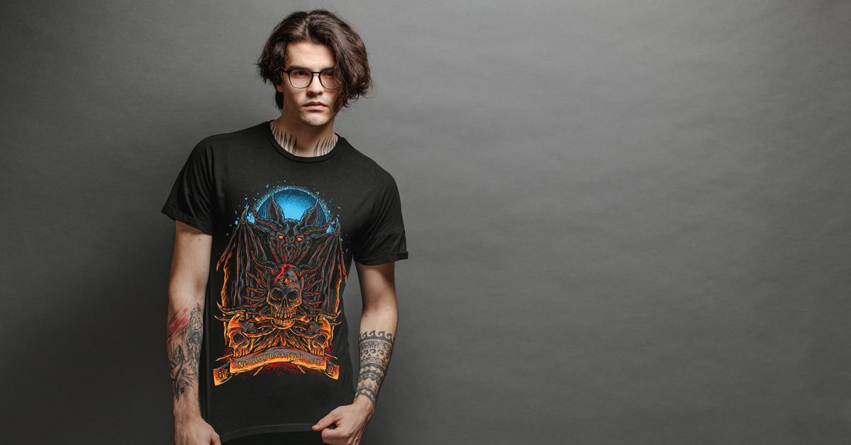 Pánské tričko The Gate Keeper | Kolekce Metal | ElitniRebel.cz